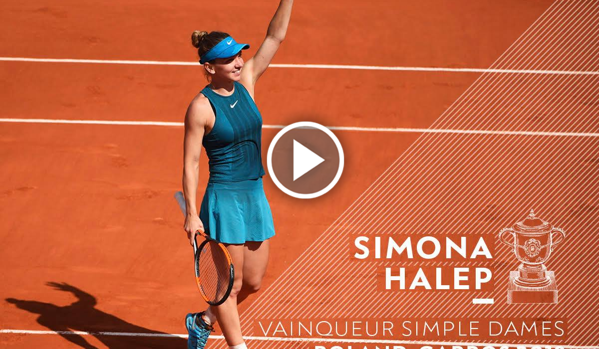 Simona Halep, campioanДѓ la Roland Garros!!! VIDEO